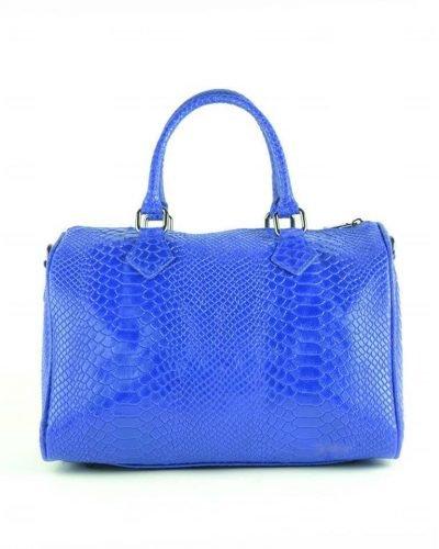 Leren Bowling Bag Snake blauw blauwe - kopie