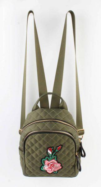 Mini Rugtas Rozen kakhi groen groene rugzakken rugtassen kleine dames festival bags stoffen bags online bestellen backpack small verstelbaar