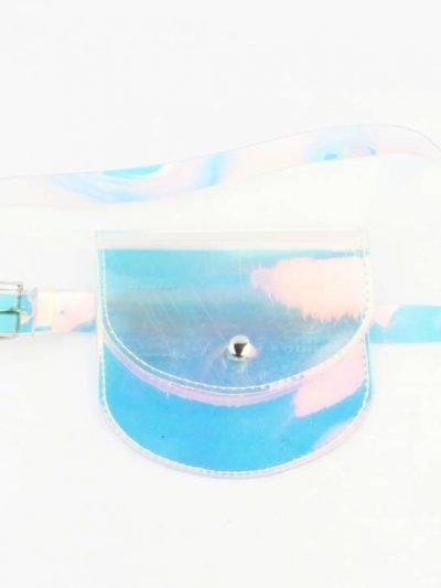 Riemtas Transparant doorzichtige clear buideltas belt bag heuptassen butterfly broche festival bags dames black online bestellen