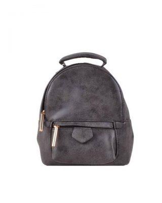 Rugtas Lilly S zwart zwarte kleine rugzakken rugtassen festival bags goedkope dames tassen kunstleder giuliano online bestellen