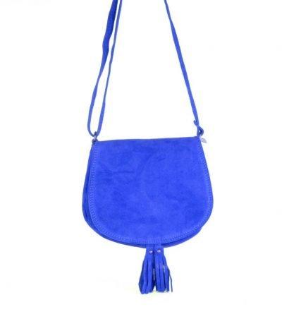 Suede-Schoudertas-Tassles-blauw blauwe-leren-suede-tassen-klosjes-festival-tasjes-kleine-tassen-online-bestellen-giuliano
