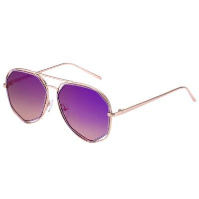 Zonnebril Square Pilot paars paarse dames zonnebrillen hoekig montuur goud gouden brillen online kopen trends