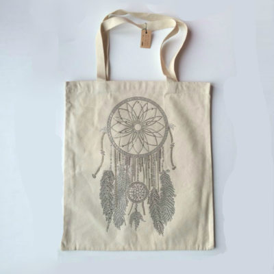 Canvas-Shopper-Dreamcatcher-off-wit-witte-canvas-tassen-shoppers-tas-met-dromenvanger-print-summer-big-bags-online-ladies-online-2