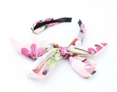 Diadeem Tropical Roze pink haar bandeax haarbanden dames tropische bloemenprint haaraccessoires online bestellen fashion