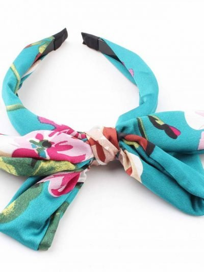 Diadeem Tropical blauw blauwe haar bandeax haarbanden dames tropische bloemenprint haaraccessoires online bestellen fashion