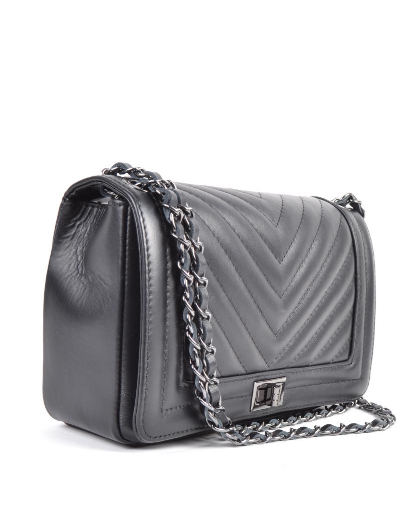 Leren-Tas-Boy-Coco-zwart-zwarte-leren-boy-bag-640-inspired-leren-tas-zilveren-kettinghengsel-fashion-itbags- kopen-leder side