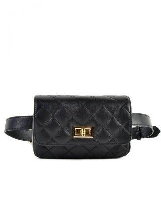 Leren-heuptas-Coco-zwart zwarte verstelbaar-leer-fannypack-fanny-pack-heuptas-beltbag-marmont-dames-leder-look-a-like-fashion-online-bestellen
