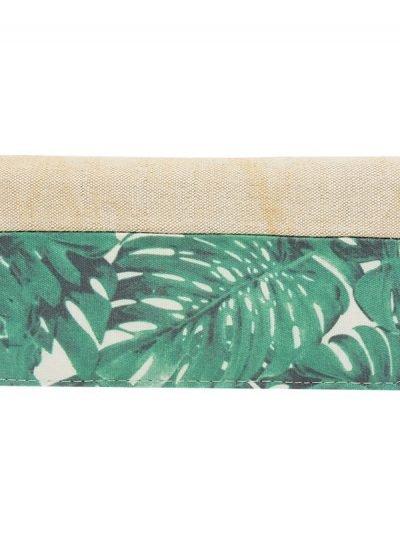 PORTEMONNEE Jungle Leaves beige PORTEMONNEEs met groene bladeren print musthave fashion wallets online vrouwen
