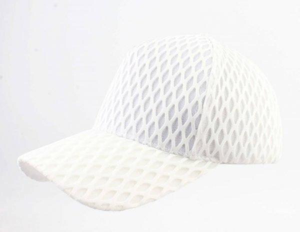 Pet Visnet wit witte dames petten van visnet motief fishnet print white caps musthave mode items vakantie