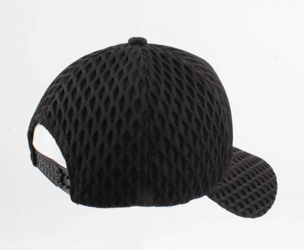 Pet Visnet zwart zwarte dames petten van visnet motief fishnet print white caps musthave mode items vakantie verstelbaar