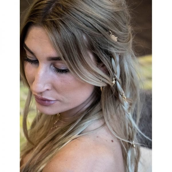 Setje haarringen haar ringen goud haar bedels musthave fashion festival haar accessoires hair-accessories hair braid rings