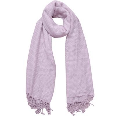 Sjaal Amayzine blauw blauwe geweven dames sjaals lange franjes musthave fashion light blue Scarfs shawls zilverdraad online