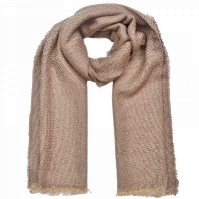 Sjaal Como bruin bruine taupe sjaals lange zachte geweven wollen dames scarf shawls browm musthave fashion online