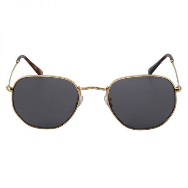 Zonnebril Tough Girl Grijs grijze glazen gouden montuur hippe fashion piloten brillen iets hoekig brillen 2018 2019 shop online goedkoop
