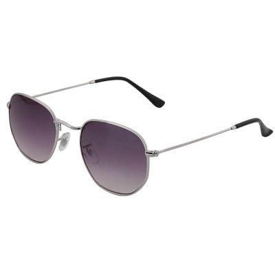 Zonnebril Tough Girl Grijs grijze glazen zilveren zilver montuur hippe fashion piloten brillen iets hoekig brillen 2018 2019 shop online goedkoop