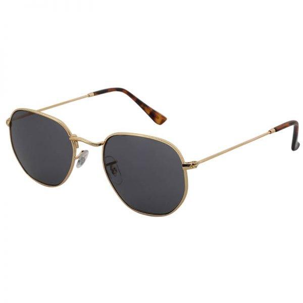 Zonnebril Tough Girl Groen groene glazen gouden montuur hippe fashion piloten brillen iets hoekig brillen 2018 2019 shop online goedkoop vrouw