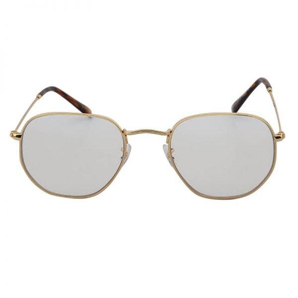 Zonnebril Tough Girl licht grijs grijze glazen gouden montuur hippe fashion piloten brillen iets hoekig brillen 2018 2019 shop online goedkoop bestellen
