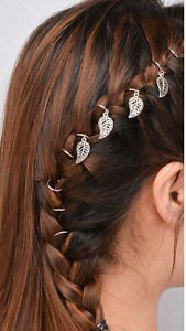 haarringen haar bedels haar ringen sieraden haar hair yewelry blad blaadjes leafes
