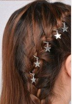 haarringen haar bedels haar ringen sieraden haar hair yewelry zilveren zilve ster star