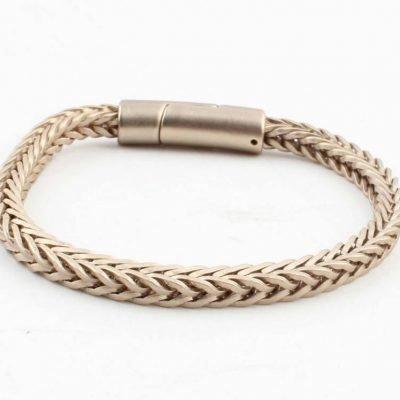 Armband-Noe mat goud gouden dames armbanden schakel gevlochten armbanden bracelet gold ladies online bestellen