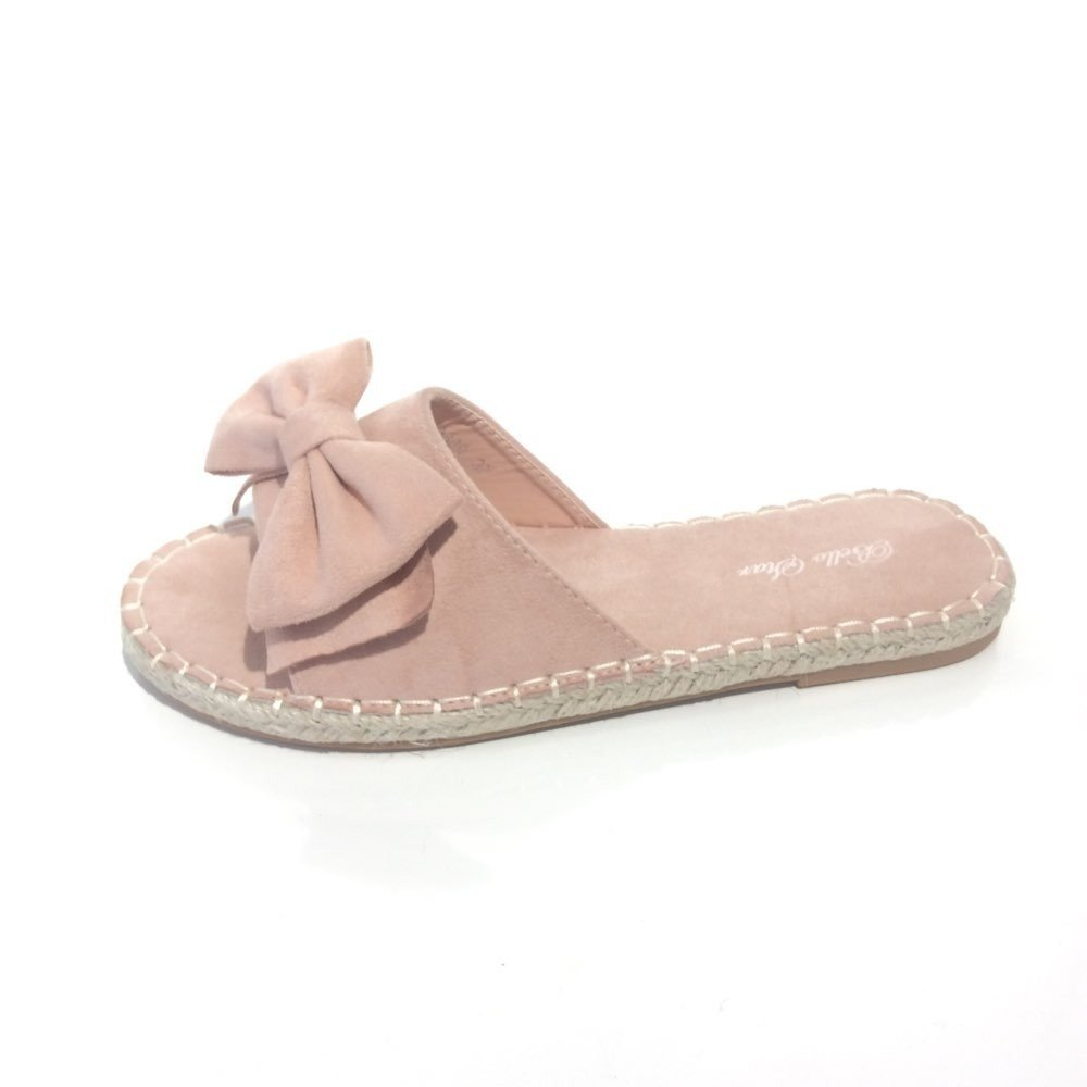 roze Espadrilles Slippers Bow roze pink dames slippers