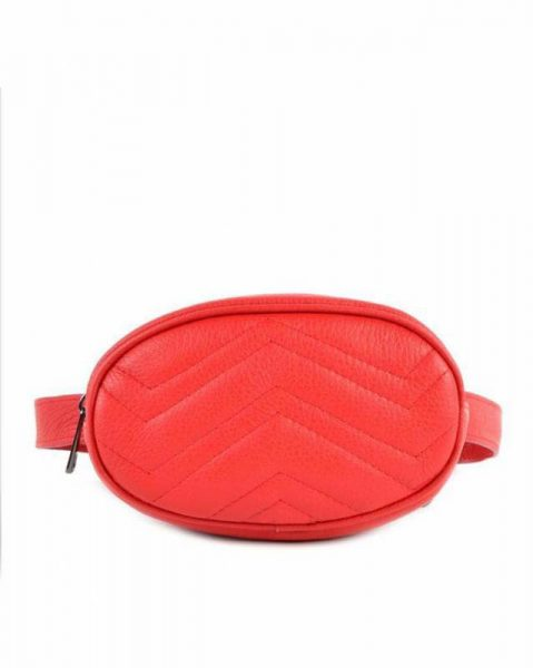 Heuptas Stylisch rood rode beltbag riemtas heuptasje met riem fashion festival musthave look a like tassen online giuliano