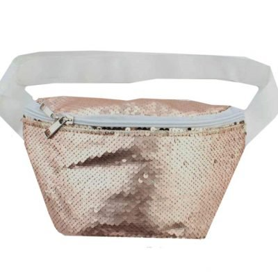 Heuptas rose pailletten roze fannypack heuptassen belt bag riemtassen festival tassen ruim fashion online bestellen