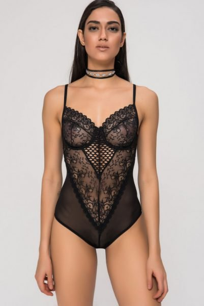 Kanten bodystocking zwart zwarte sexy festival body bodies lace lingerie bodysuit online bestellen kiki riki bestellen
