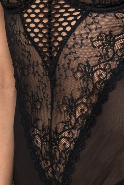 Kanten bodystocking zwart zwarte sexy festival body bodies lace lingerie bodysuit online bestellen kiki riki bestellen goedkoop