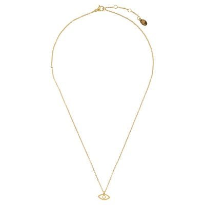 Ketting Third-eye-goud gouden-rvs-stainlessteel-kettingen necklage-oog-nazar-bedel-dames-kettingen-sieraden-online tv sieraden bestellen