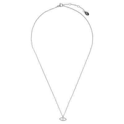 Ketting Third-eye-zilver zilveren-rvs-stainlessteel-kettingen necklage-oog-nazar-bedel-dames-kettingen-sieraden-online tv sieraden bestellen