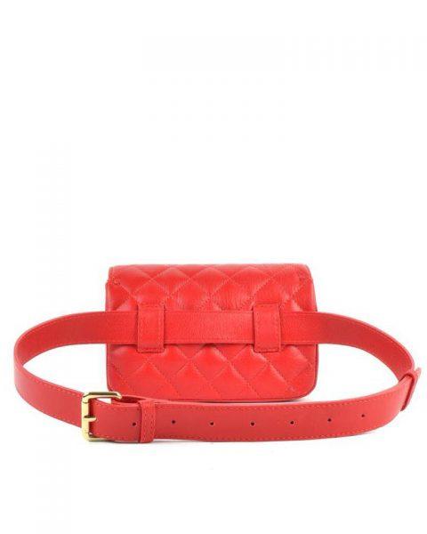 Leren-heuptas-Coco-rood rode -verstelbaar-leer-fannypack-fanny-pack-heuptas-beltbag-marmont-dames-leder-look-a-like-fashion-online-bestellen achterkant