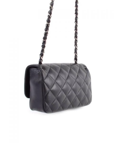 Leren-tas-coco-klein-zwart zwarte-designer-inspired-2.55-musthave-lederen-dames-tassen-kettingen-online-kopen achterkant