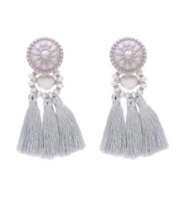 Oorbellen-Festive-Tassel-grijs grijze-lange-dames-oorhangers-met-kwastjes-big-earrings-tassle-fashion-musthave-vrouwen-bestellen kopen