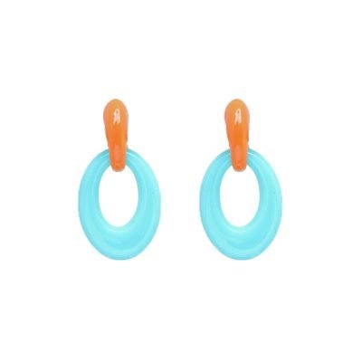 Oorbellen Summer vibes Mint oranje oorhangers verwisselbare oorbellen mix fashion earrings statement oorbel