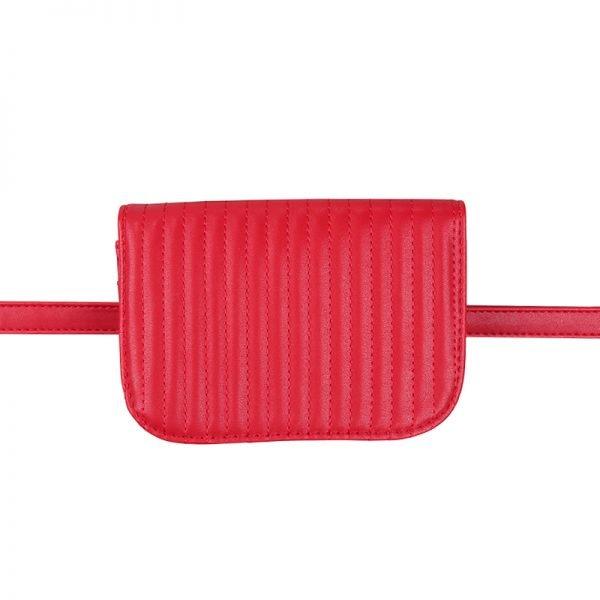 Riem Tas Festival Must rood rode vierkante met flap heuptas-beltbag-riemtas-heuptasje-met-riem-fashion-festival-musthave-look-a-like-tassen-online-bags fannypack
