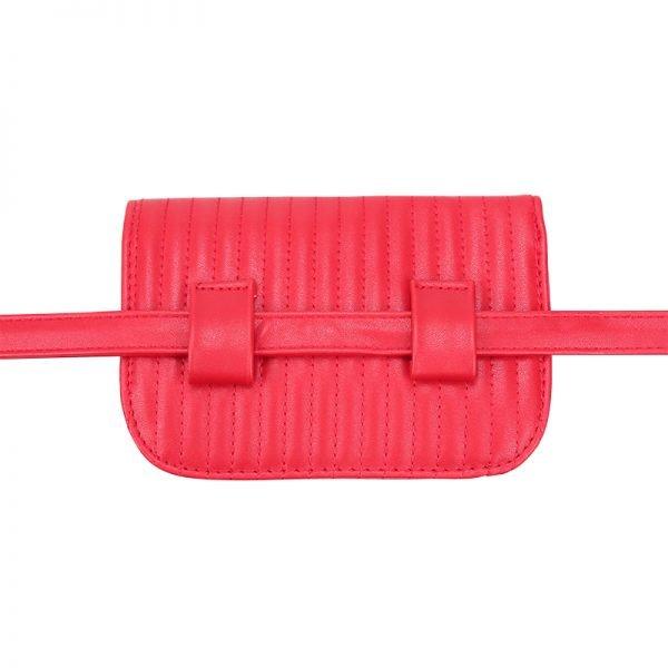 Riem Tas Festival Must rood rode vierkante met flap heuptas-beltbag-riemtas-heuptasje-met-riem-fashion-festival-musthave-look-a-like-tassen-online-bags fannypack achter