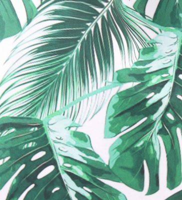 Rugzak Happy Leaves groen groene wit palmbladeren hippe rugtassen backpacks dames tassen online zomer strandtassen kopen bestellen