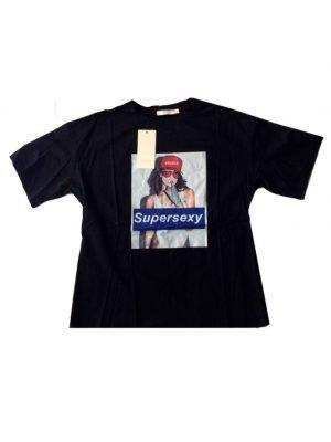 T-shirt-Supersexy-zwart-zwarte-dames-shirts-met-tekst-f