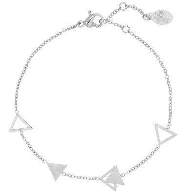 Armband Triangles zilver zilveren dames armbanden sieraden bracelets silver driehoekjes yehwang online kopen