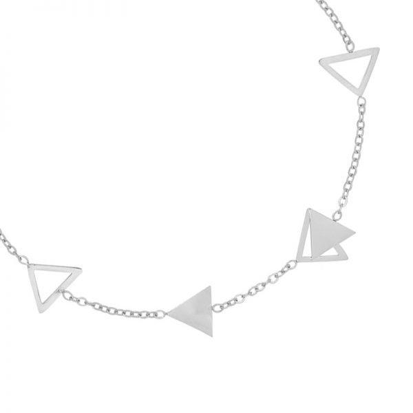 Armband Triangles zilver zilveren dames armbanden sieraden bracelets silver driehoekjes yehwang online kopen detail