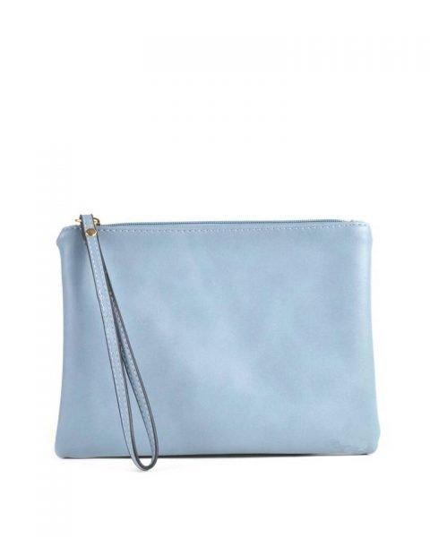 Doorzichtige Bag in Bag Tas Fashion blauw blauwe clutch clear pvc tassen bags fashion tekst print online handtassen schoudertassen dames kopen