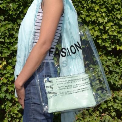 Doorzichtige Bag in Bag Tas Fashion clear pvc tassen bags fashion tekst print online handtassen schoudertassen dames kopen