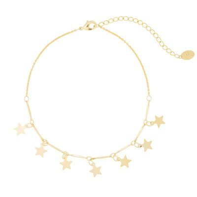 Enkelbandje Stars goud gouden enkelbandje dames kettinkjes sterren sterretjes online kopen