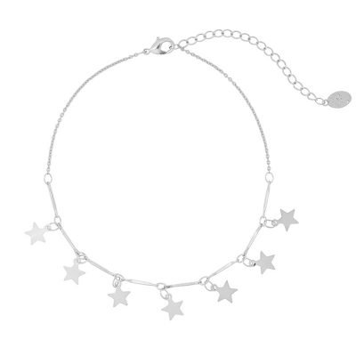 Enkelbandje Stars zilver zilveren enkelbandje dames kettinkjes sterren sterretjes online kopen