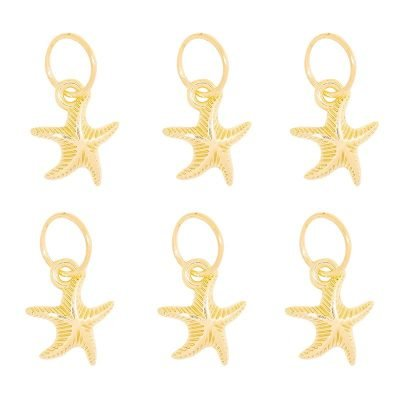 Haar ringen Starfish goud gouden vlecht ringen setje haar accessoires zeester boho haar pimpen festival hair musthave fashion haar hair braid rings Wings