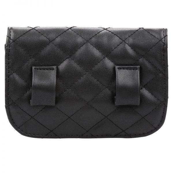 Heuptas-Chester Chic-zwart zwarte belt bag riem tasjes-fannypack-fanny-pack-heuptas-beltbag-vierkant flap bag studs-dames-gewatteerd-fashion-online-bestellen achterkant