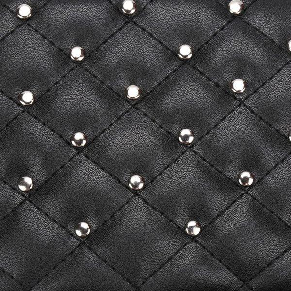 Heuptas-Chester Chic-zwart zwarte belt bag riem tasjes-fannypack-fanny-pack-heuptas-beltbag-vierkant gouden studs-dames-gewatteerd- met rits fashion-online-bestellen