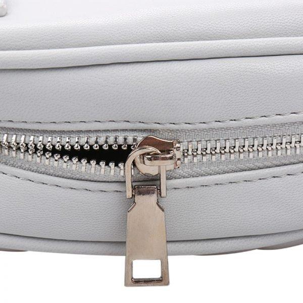 Heuptas-Chic Coco-Grijs grijze belt bag riem tasjes-fannypack-fanny-pack-heuptas-beltbag-marmont-dames-gewatteerd-clutch fashion-online-bestellen rits