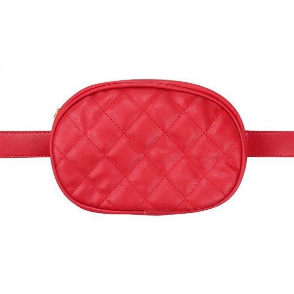 Heuptas-Chic Coco-rood rode belt bag riem tasjes-fannypack-fanny-pack-heuptas-beltbag-marmont-dames-gewatteerd-fashion-online-bestellen